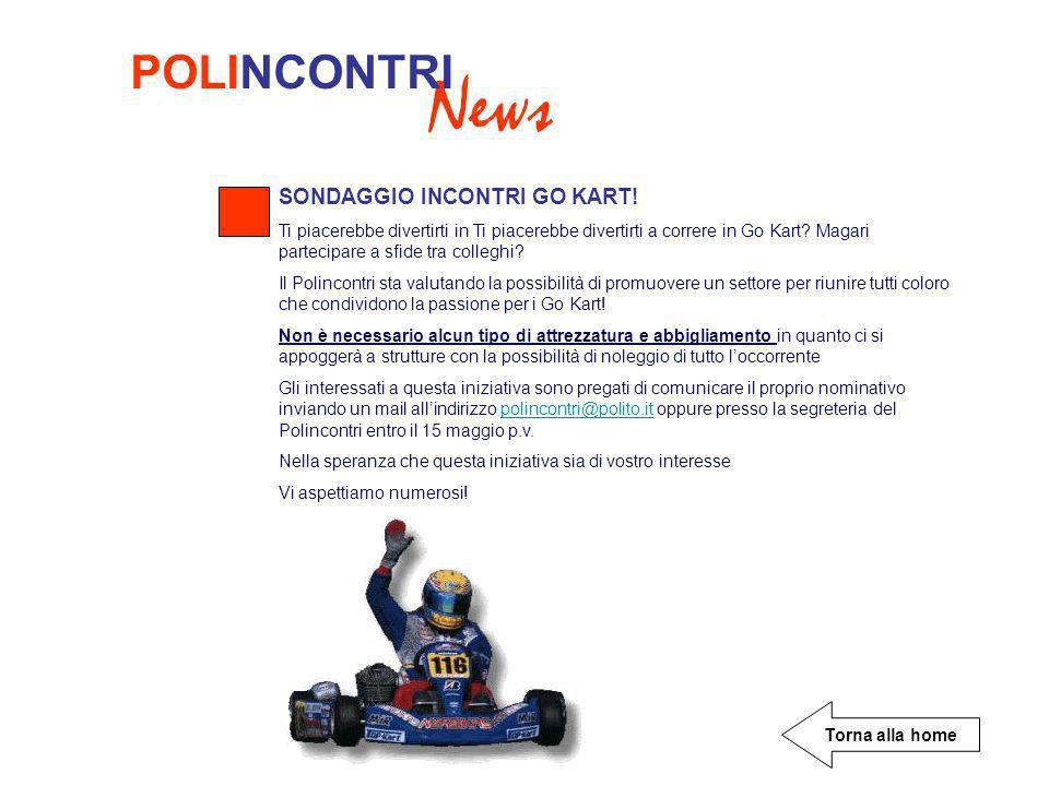 News POLINCONTRI SONDAGGIO INCONTRI GO KART.