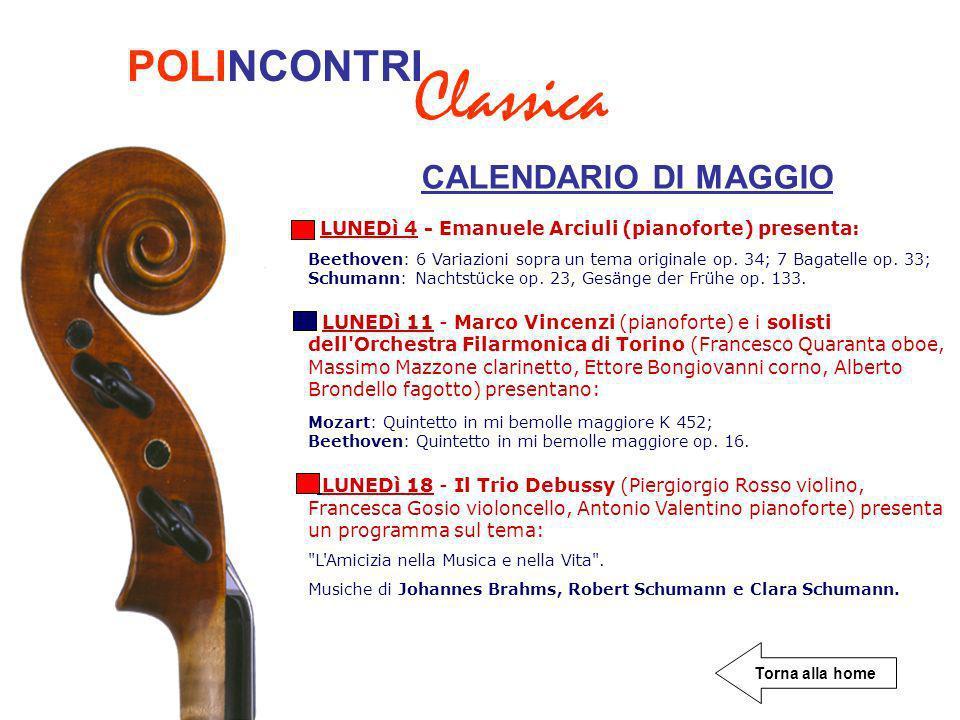 CALENDARIO DI MAGGIO LUNEDì 4 - Emanuele Arciuli (pianoforte) presenta: Beethoven: 6 Variazioni sopra un tema originale op.