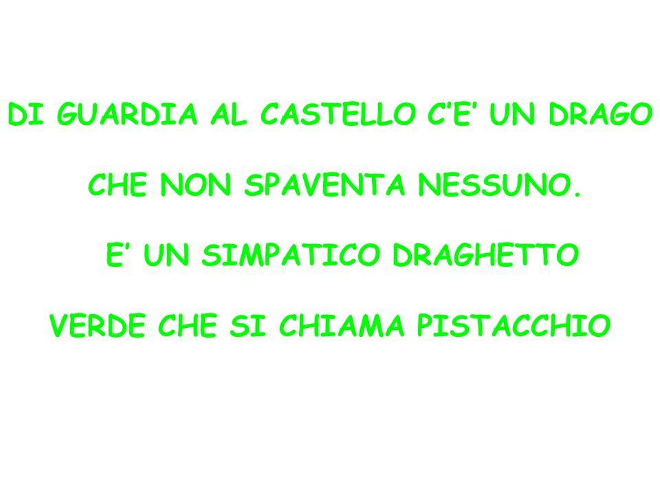 DI GUARDIA AL CASTELLO CE UN DRAGO CHE NON SPAVENTA NESSUNO.