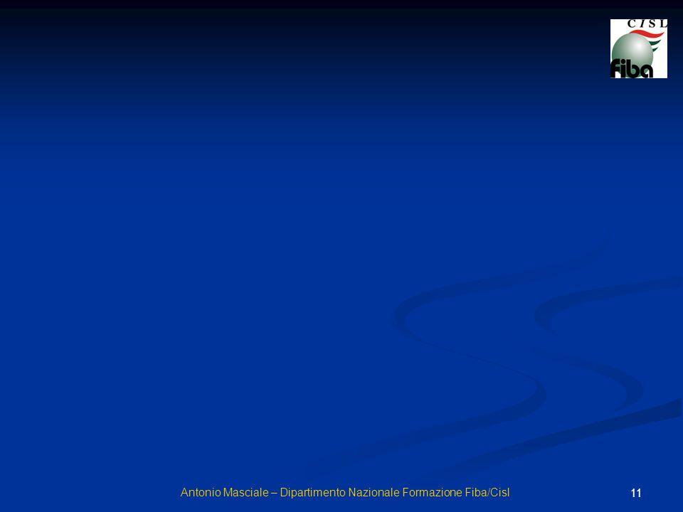 11 Antonio Masciale – Dipartimento Nazionale Formazione Fiba/Cisl