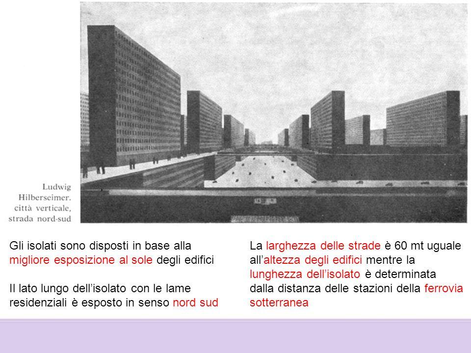 Gli isolati sono disposti in base alla migliore esposizione al sole degli edifici Il lato lungo dellisolato con le lame residenziali è esposto in sens