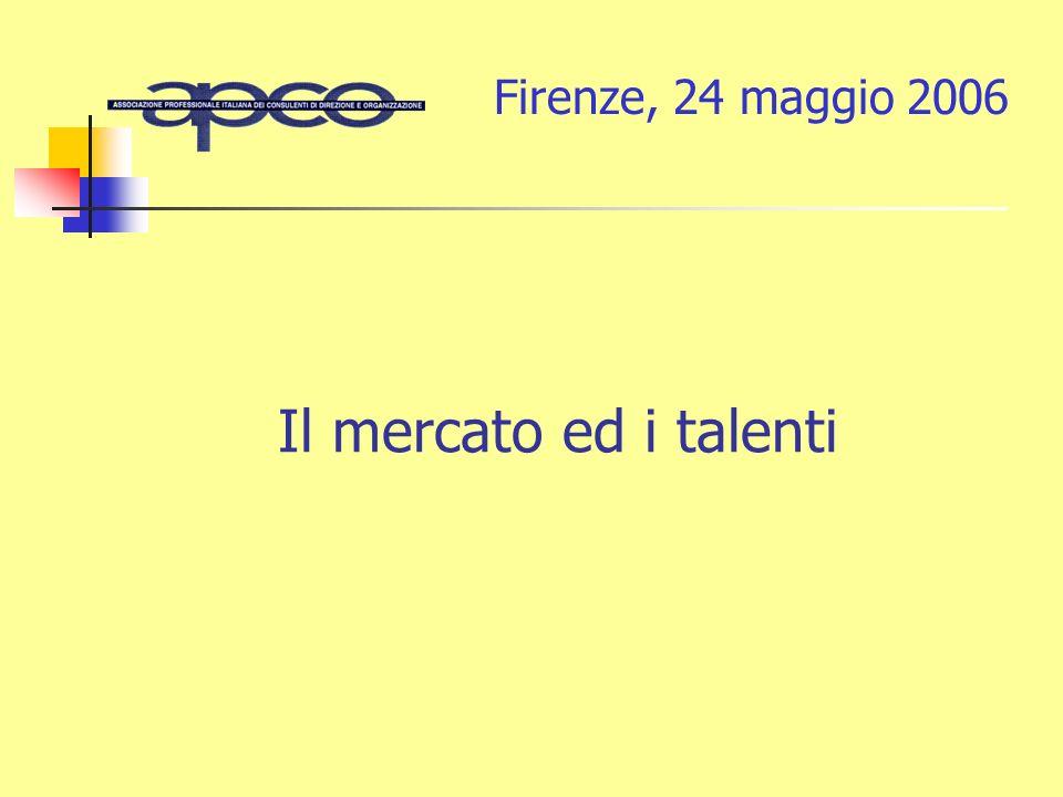 Il mercato ed i talenti Firenze, 24 maggio 2006