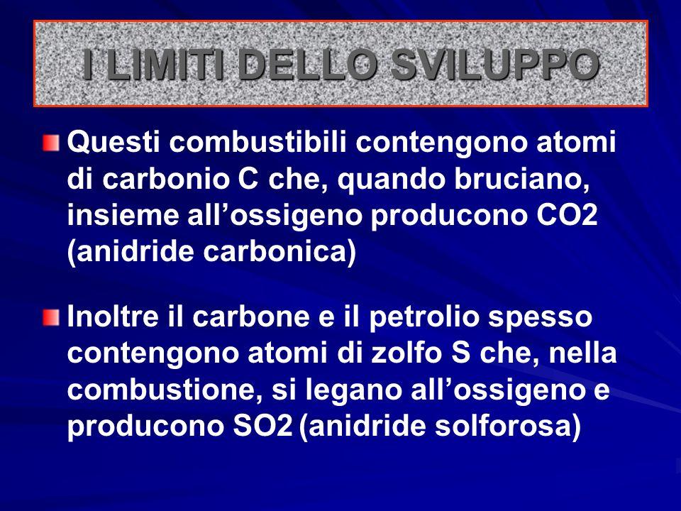 I combustibili (liquidi come il petrolio, gassosi come il metano, solidi come il carbone) sono derivati dalla decomposizione delle biomasse (materiale