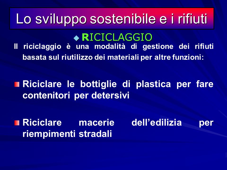 Il riuso è una modalità di gestione dei rifiuti che si basa sullimpiego di merci o materiali già usati ma in grado di essere usati ancora per le stess