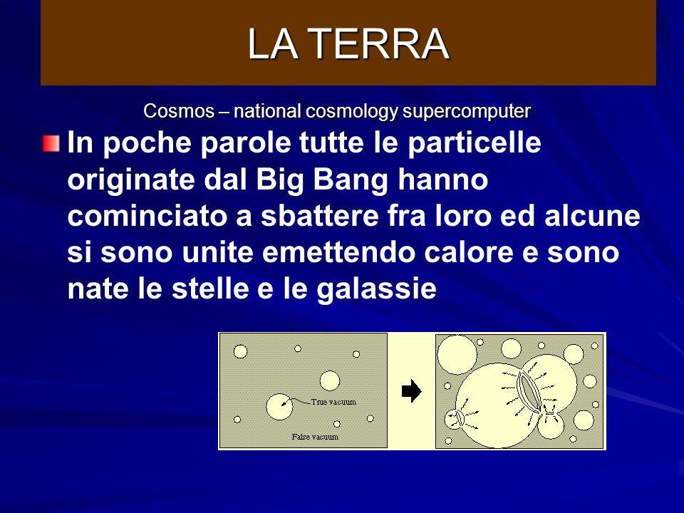 http://www.damtp.cam.ac.uk/cosmos/Public/index.html Immaginiamo che fosse tutto buio e non ci fosse quasi nulla se non particelle di gas, polvere, ecc