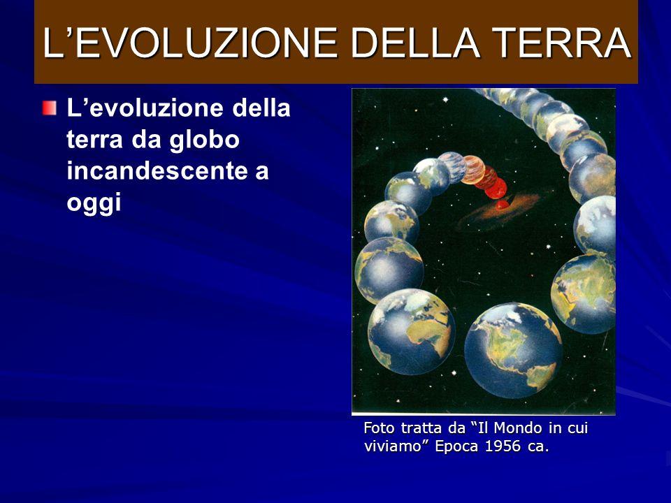Luna anchessa infuocata La terra inizia a solidificarsi LEVOLUZIONE DELLA TERRA Foto tratta da Il Mondo in cui viviamo Epoca 1956 ca.