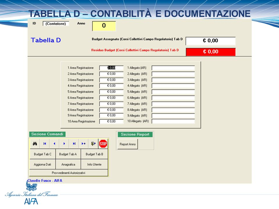 TABELLA D – CONTABILITÀ E DOCUMENTAZIONE