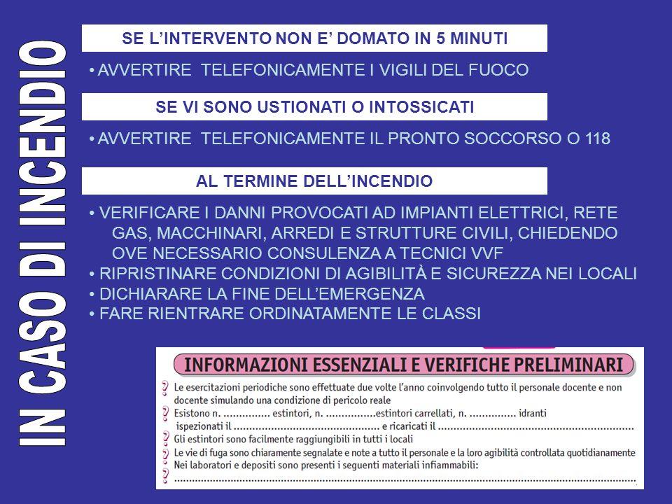 COME INTERVENIRE EVITARE DI PRECIPITARSI DISORDINATAMENTE ALLESTERNO ADOTTARE LE MISURE DI AUTOPROTEZIONE APPRESE DURANTE LE ESERCITAZIONI (PROTEGGERSI SOTTO IL BANCO DALLA CADUTA DI OGGETTI) CHIUDERE IL RUBINETTO GENERALE DEL GAS E DELLACQUA APRIRE LINTERRUTTORE GENERALE DELLENERGIA ELETTRICA