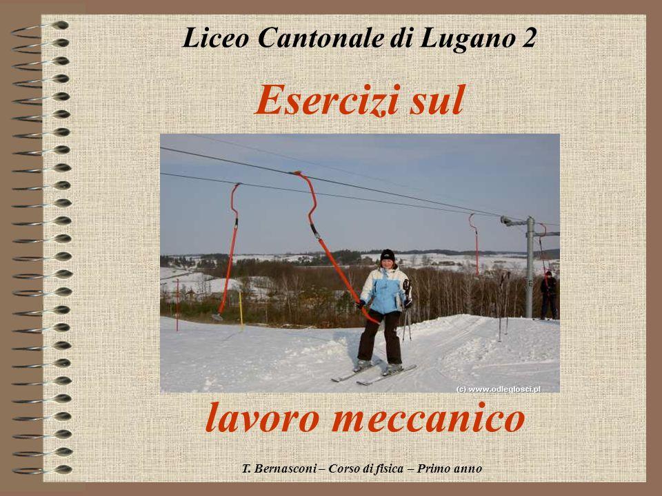 Esercizi sul lavoro meccanico Liceo Cantonale di Lugano 2 T. Bernasconi – Corso di fisica – Primo anno