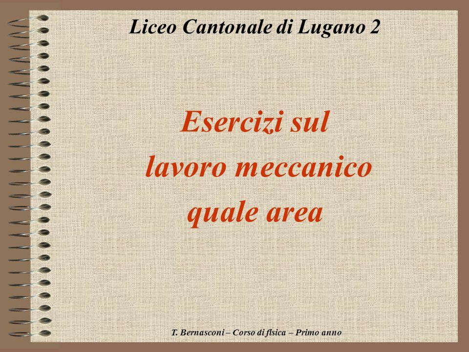 Esercizi sul lavoro meccanico quale area Liceo Cantonale di Lugano 2 T. Bernasconi – Corso di fisica – Primo anno