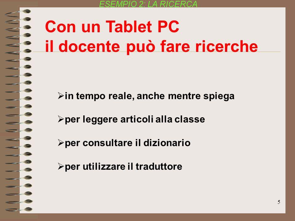 5 in tempo reale, anche mentre spiega per leggere articoli alla classe per consultare il dizionario per utilizzare il traduttore Con un Tablet PC il d