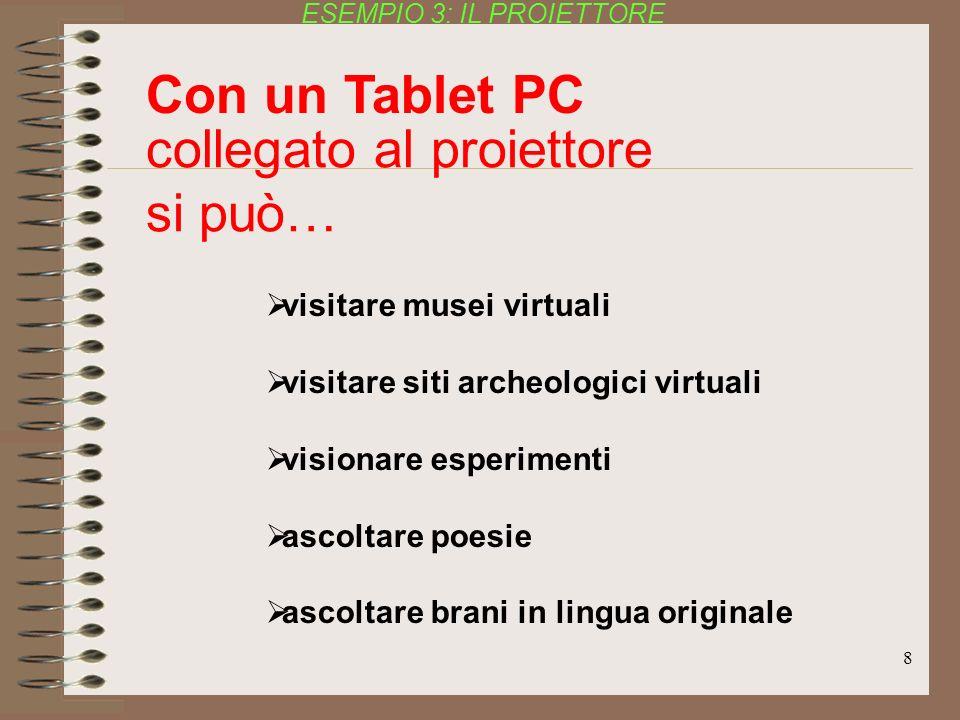 8 visitare musei virtuali visitare siti archeologici virtuali visionare esperimenti ascoltare poesie ascoltare brani in lingua originale ESEMPIO 3: IL