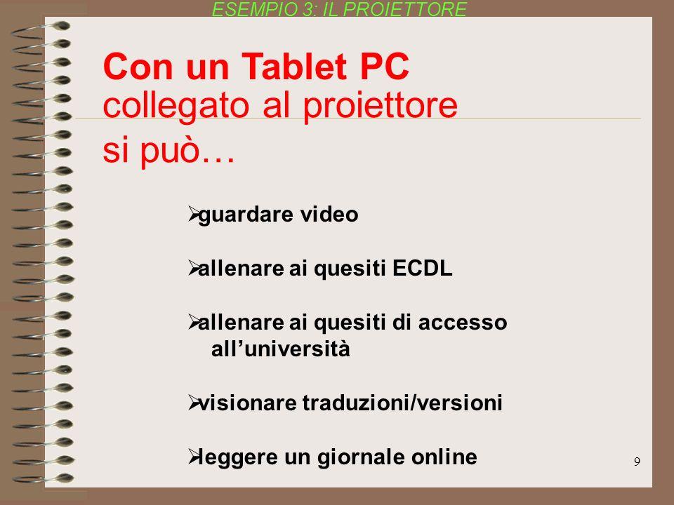 9 guardare video allenare ai quesiti ECDL allenare ai quesiti di accesso alluniversità visionare traduzioni/versioni leggere un giornale online colleg