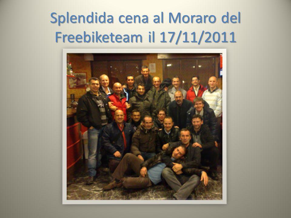 Splendida cena al Moraro del Freebiketeam il 17/11/2011