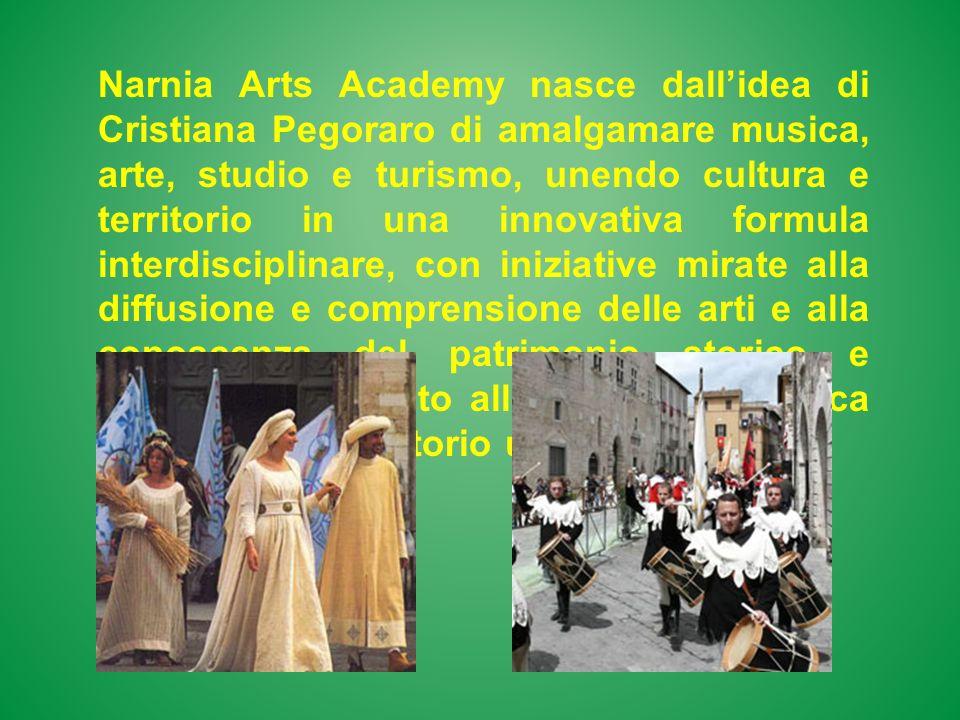 Narnia Arts Academy nasce dallidea di Cristiana Pegoraro di amalgamare musica, arte, studio e turismo, unendo cultura e territorio in una innovativa f