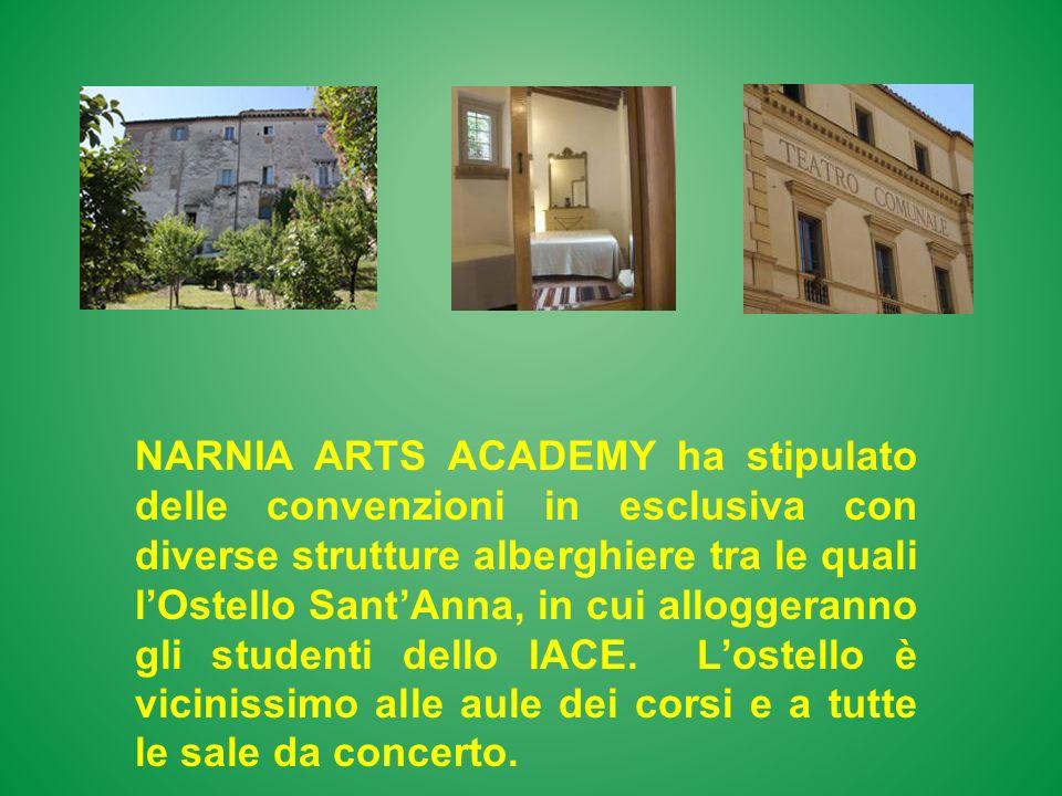 NARNIA ARTS ACADEMY ha stipulato delle convenzioni in esclusiva con diverse strutture alberghiere tra le quali lOstello SantAnna, in cui alloggeranno