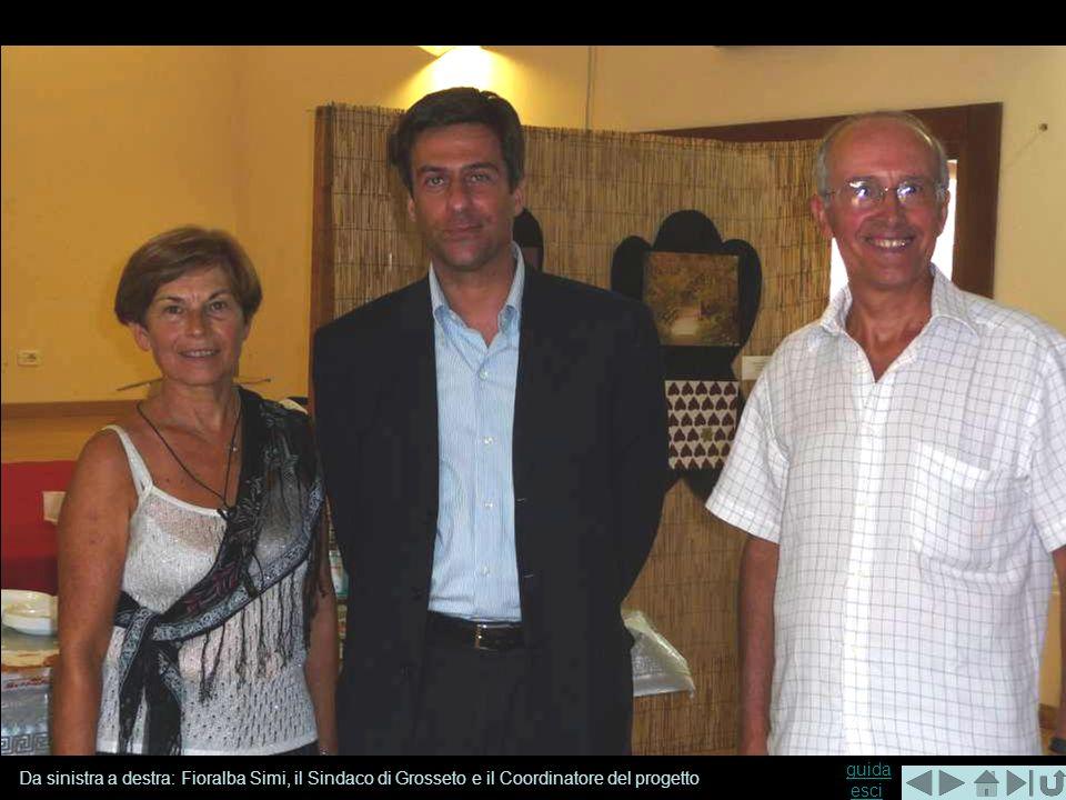 guida guida esciesci Da sinistra a destra: Fioralba Simi, il Sindaco di Grosseto e il Coordinatore del progetto