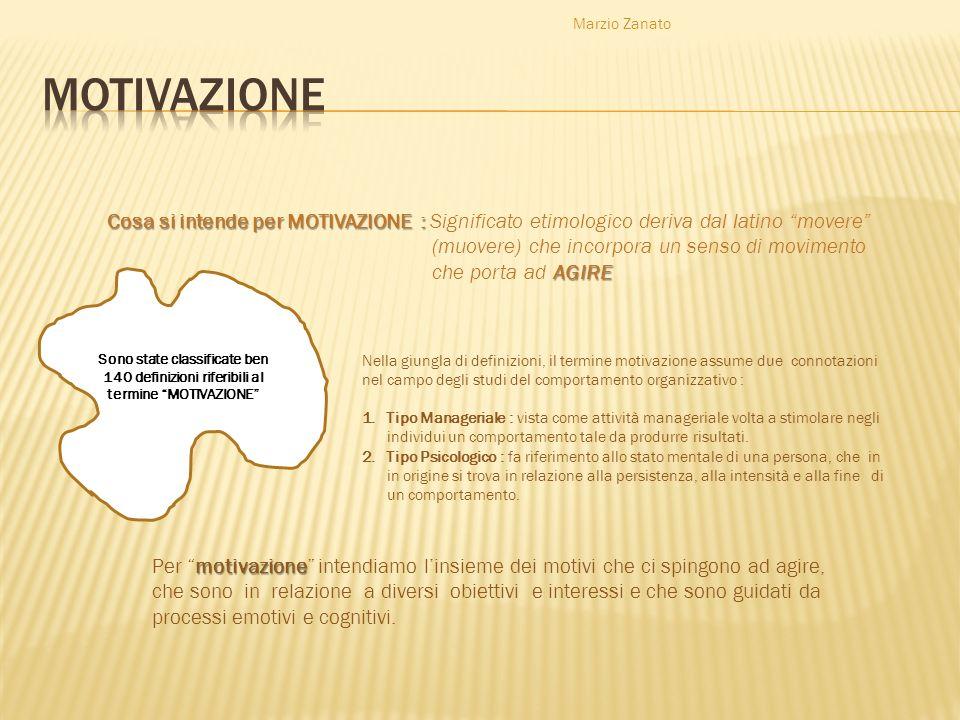 Marzio Zanato Cosa si intende per MOTIVAZIONE : Cosa si intende per MOTIVAZIONE : Significato etimologico deriva dal latino movere (muovere) che incor