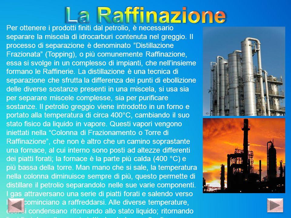 Per ottenere i prodotti finiti dal petrolio, è necessario separare la miscela di idrocarburi contenuta nel greggio. Il processo di separazione è denom