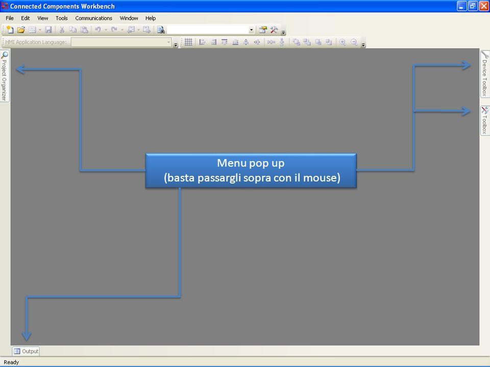 Device Toolbox Iniziamo un nuovo progetto aprendo il Device Toolbox Impariamo ad usare il CCW facendo un esempio