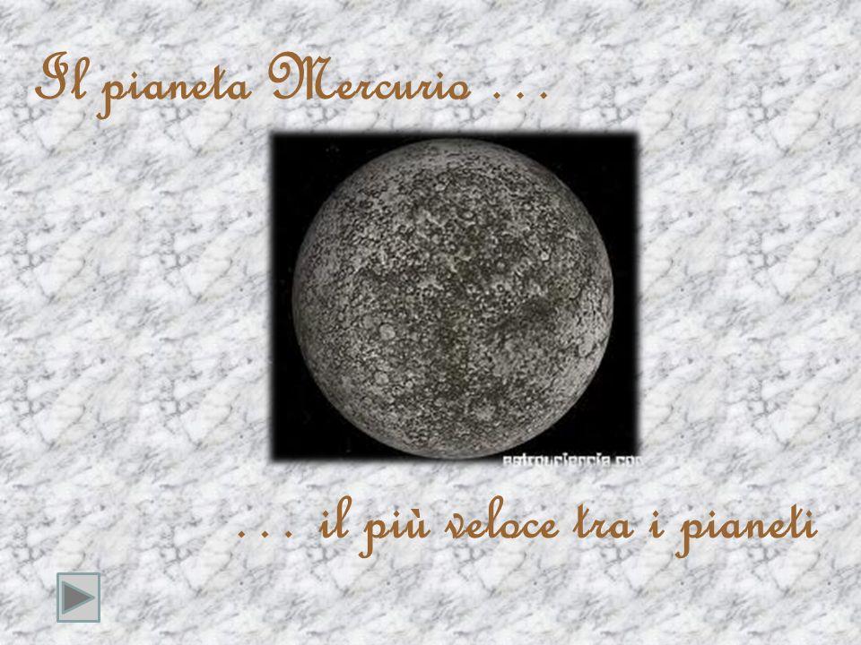 Il pianeta Mercurio … … il più veloce tra i pianeti