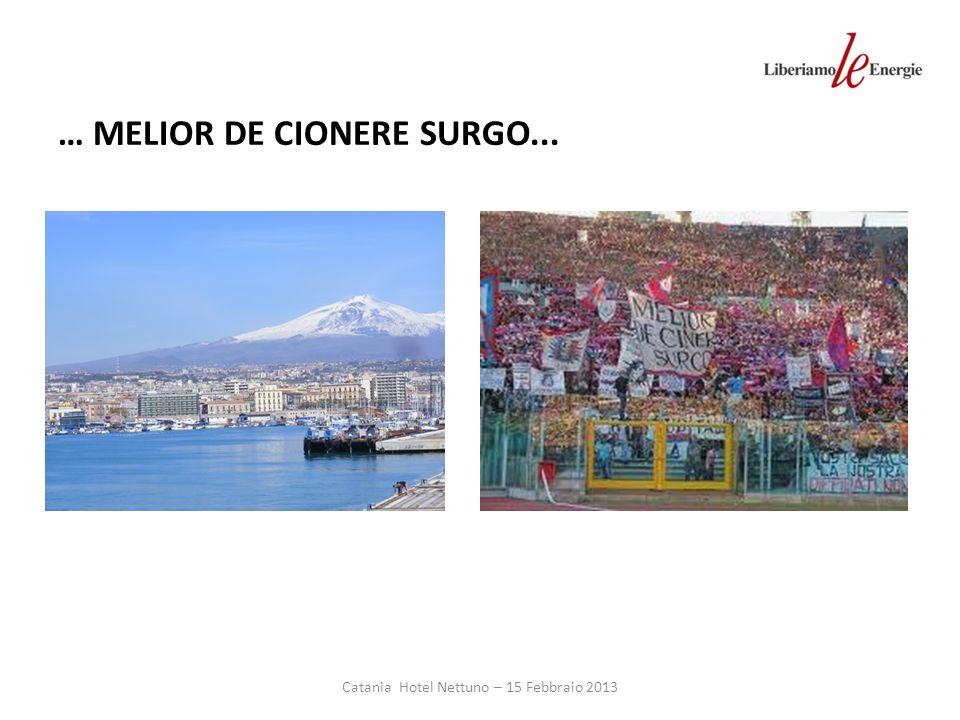 Catania Hotel Nettuno – 15 Febbraio 2013 … MELIOR DE CIONERE SURGO...