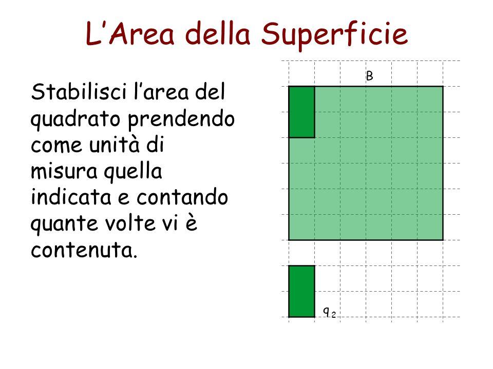 Ma il numero dei quadratini di una fila è uguale al numero che esprime le unità di lunghezza della base e… LArea della Superficie 12