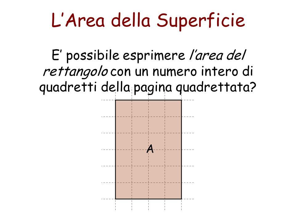 LArea della Superficie Qual è il numero di quadretti contenuto nel rettangolo.