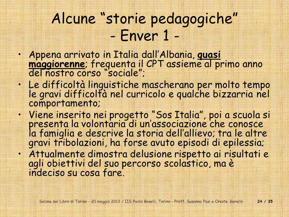 Salone del Libro di Torino - 20 maggio 2013 / IIS Paolo Boselli, Torino - Proff. Susanna Pasi e Oreste Garello24 / 35 Alcune storie pedagogiche - Enve