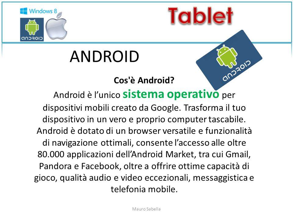 ANDROID Cos è Android.Android è lunico sistema operativo per dispositivi mobili creato da Google.