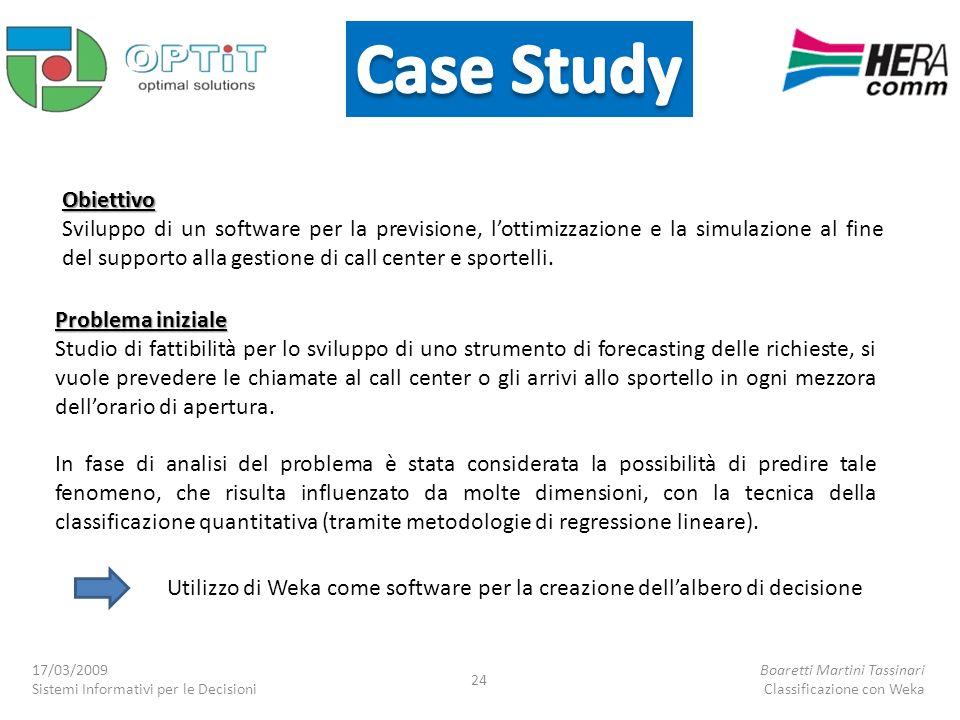 Obiettivo Sviluppo di un software per la previsione, lottimizzazione e la simulazione al fine del supporto alla gestione di call center e sportelli. P