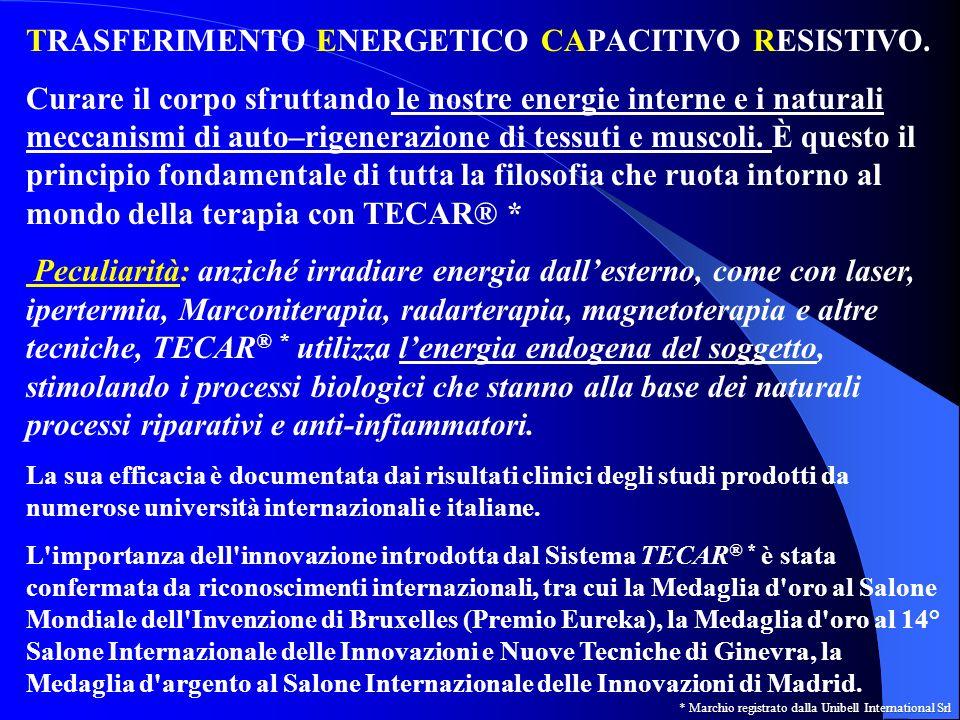 TERAPIA CON TECAR® *: come funziona Principio fisico del condensatore: 2 elementi affacciati (le cosiddette armature del condensatore), separati da un materiale isolante, collegati ad un generatore elettrico che crea una differenza di potenziale tra le 2 armature.