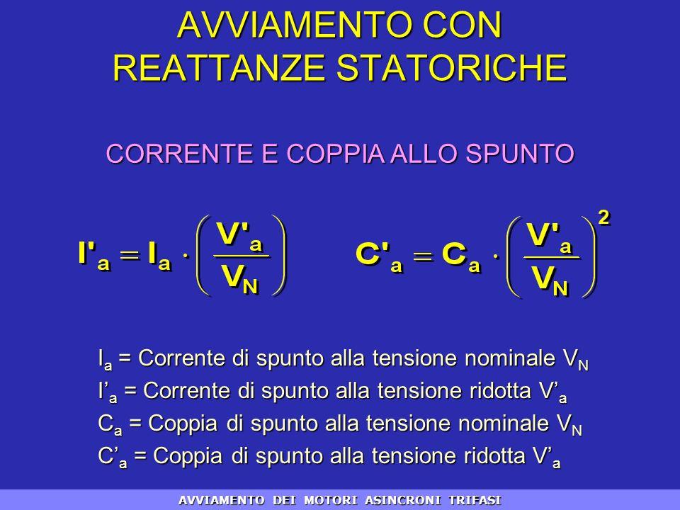 I a = Corrente di spunto alla tensione nominale V N I a = Corrente di spunto alla tensione ridotta V a C a = Coppia di spunto alla tensione nominale V