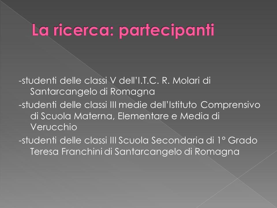 -studenti delle classi V dellI.T.C. R. Molari di Santarcangelo di Romagna -studenti delle classi III medie dellIstituto Comprensivo di Scuola Materna,