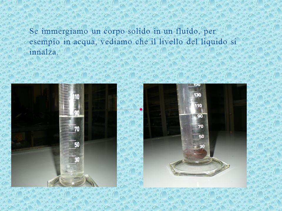Più grande è il volume del corpo, maggiore è la quantità di acqua spostata.