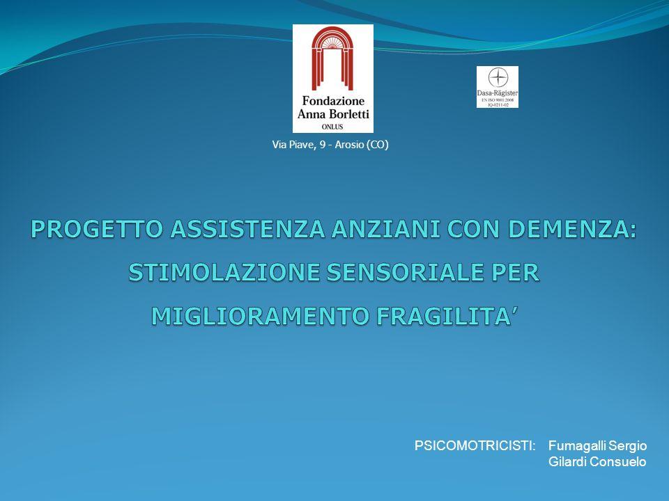 Via Piave, 9 - Arosio (CO) PSICOMOTRICISTI: Fumagalli Sergio Gilardi Consuelo
