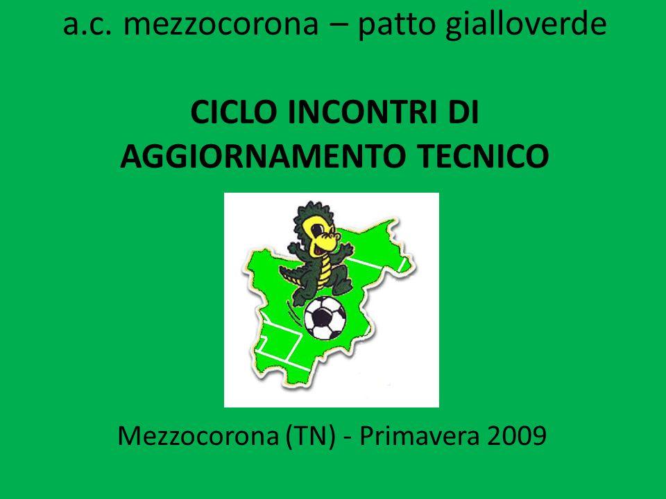 a.c. mezzocorona – patto gialloverde CICLO INCONTRI DI AGGIORNAMENTO TECNICO Mezzocorona (TN) - Primavera 2009