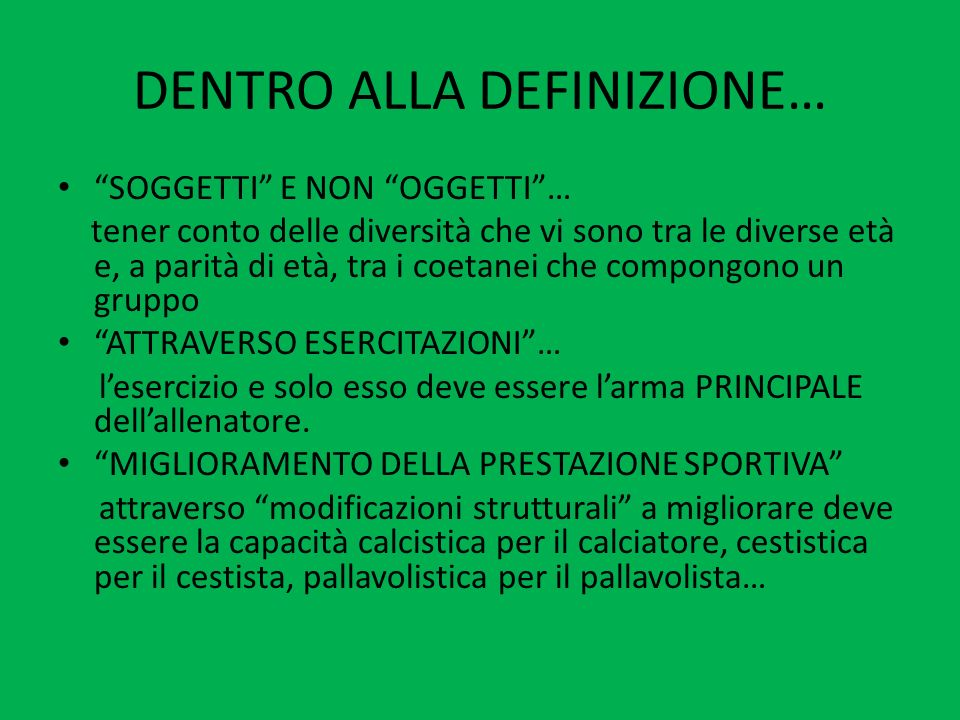 SECONDA PARTE ALLENAMENTO NEL SETTORE GIOVANILE: FASI SENSIBILI E CONSIGLI PRATICI di Alessandro Gelmi