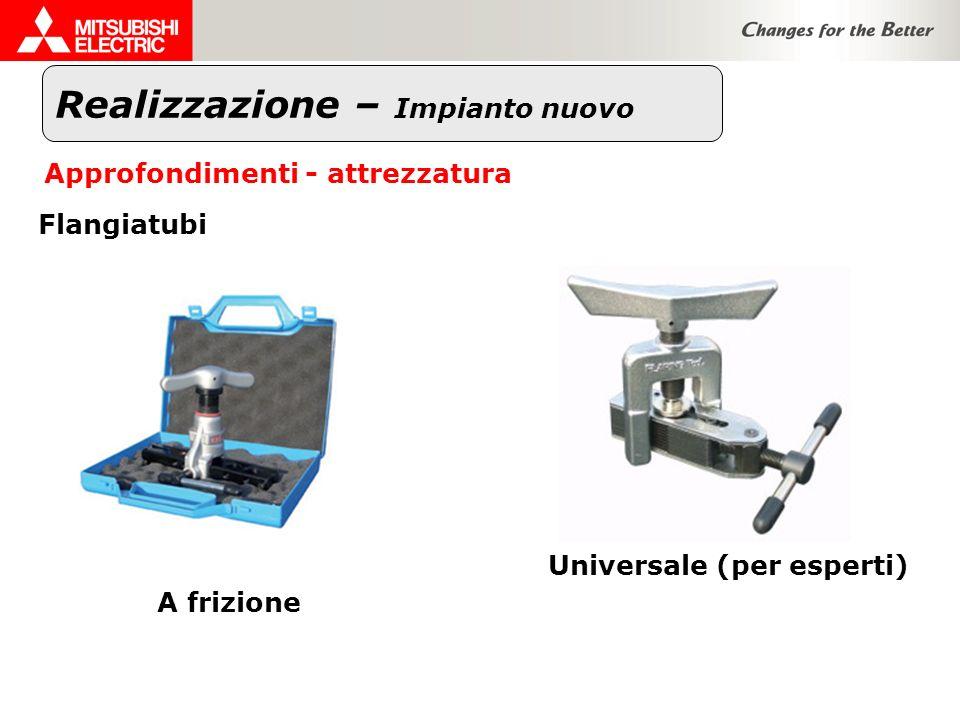 Realizzazione – Impianto nuovo Approfondimenti - attrezzatura Flangiatubi A frizione Universale (per esperti)