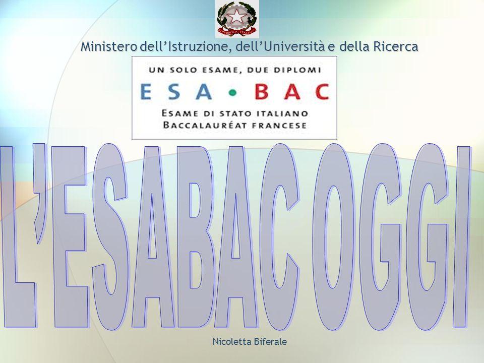 Nicoletta Biferale Ministero dellIstruzione, dellUniversità e della Ricerca