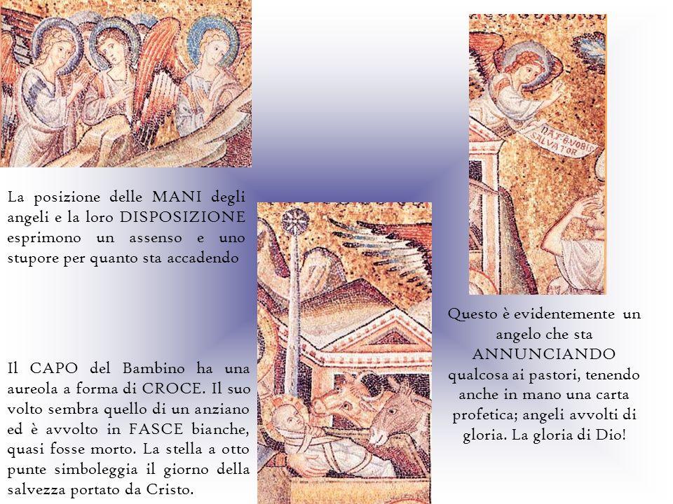 La posizione delle MANI degli angeli e la loro DISPOSIZIONE esprimono un assenso e uno stupore per quanto sta accadendo Questo è evidentemente un ange