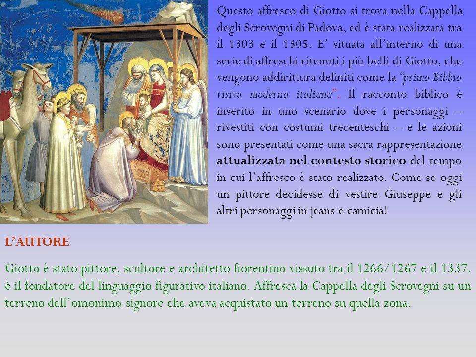 Questo affresco di Giotto si trova nella Cappella degli Scrovegni di Padova, ed è stata realizzata tra il 1303 e il 1305. E situata allinterno di una