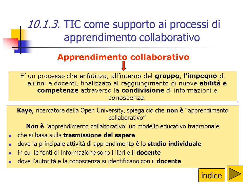 Le TIC facilitano la comunicazione anche in progetti di didattica collaborativa tra classi dello stesso istituto nellambito della stessa classe perché