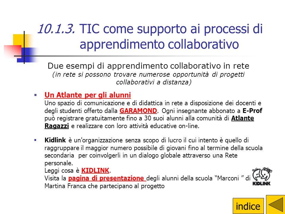 10.1.3. TIC come supporto ai processi di apprendimento collaborativo Lapprendimento collaborativo affonda le sue radici nel costruttivismo sociale Ele