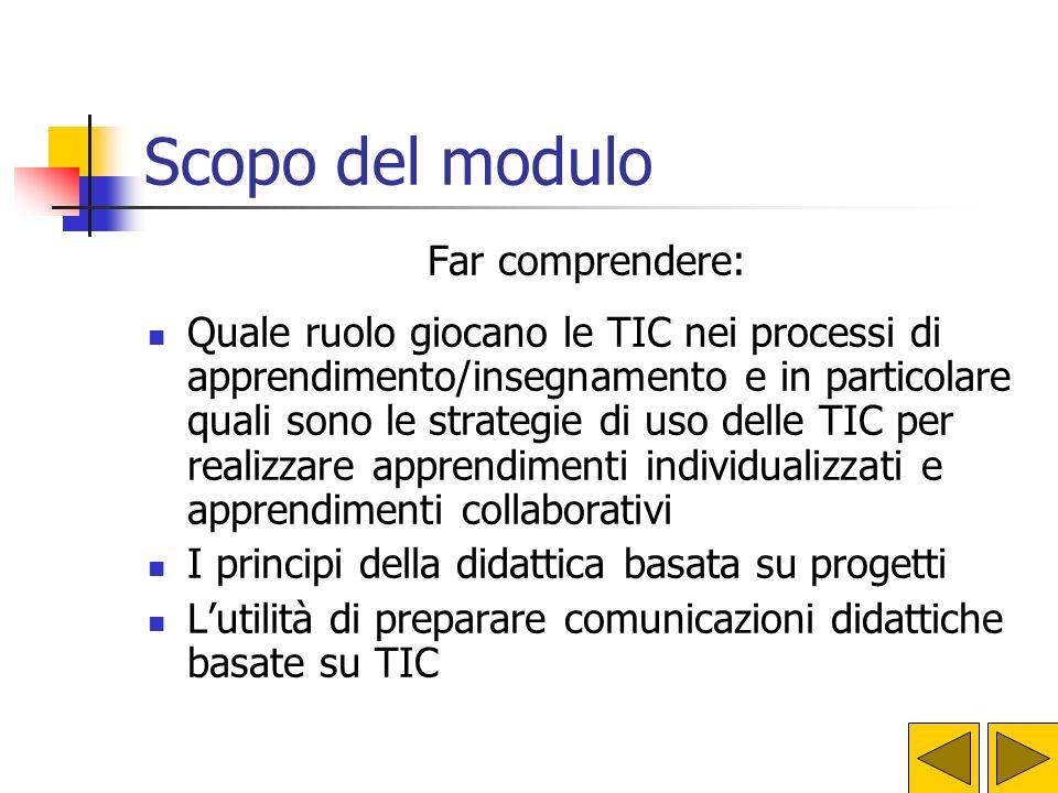 Processi di apprendimento/insegnamento e TD Modulo 10 Piano Nazionale di Formazione degli Insegnanti sulle Tecnologie dellInformazione e della Comunic