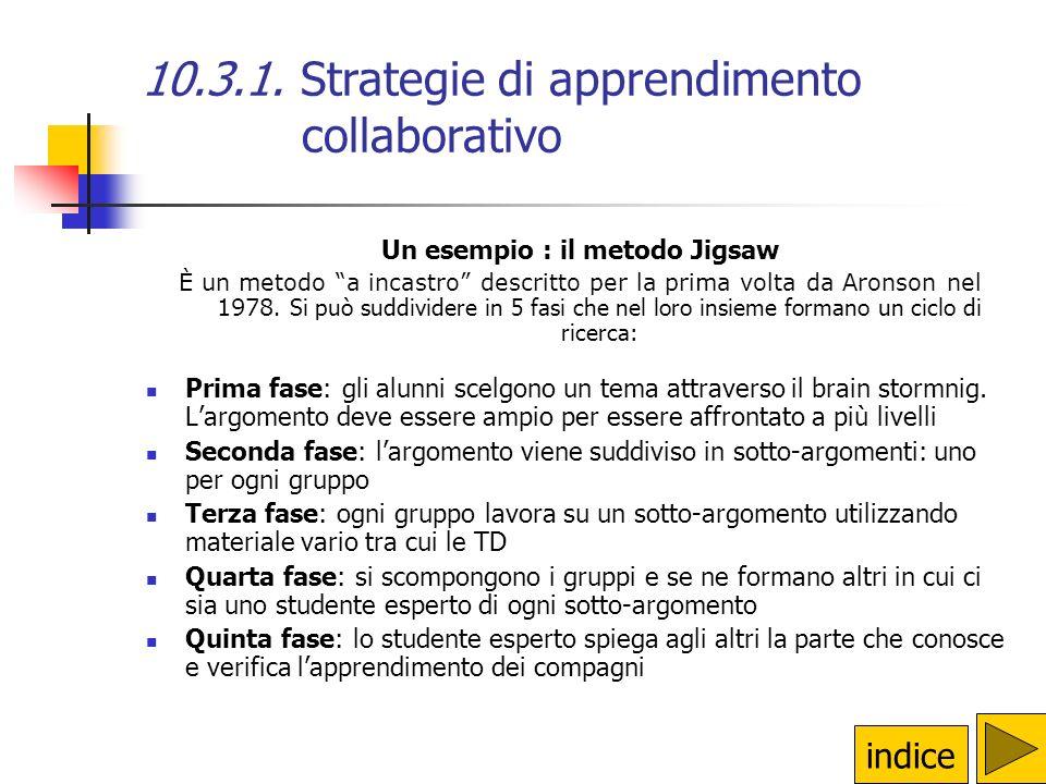 10.3.1. Definizione di apprendimento collaborativo il modello costruttivista dellapprendimento comunità reali comunità reali S A A AA A A IA comunità