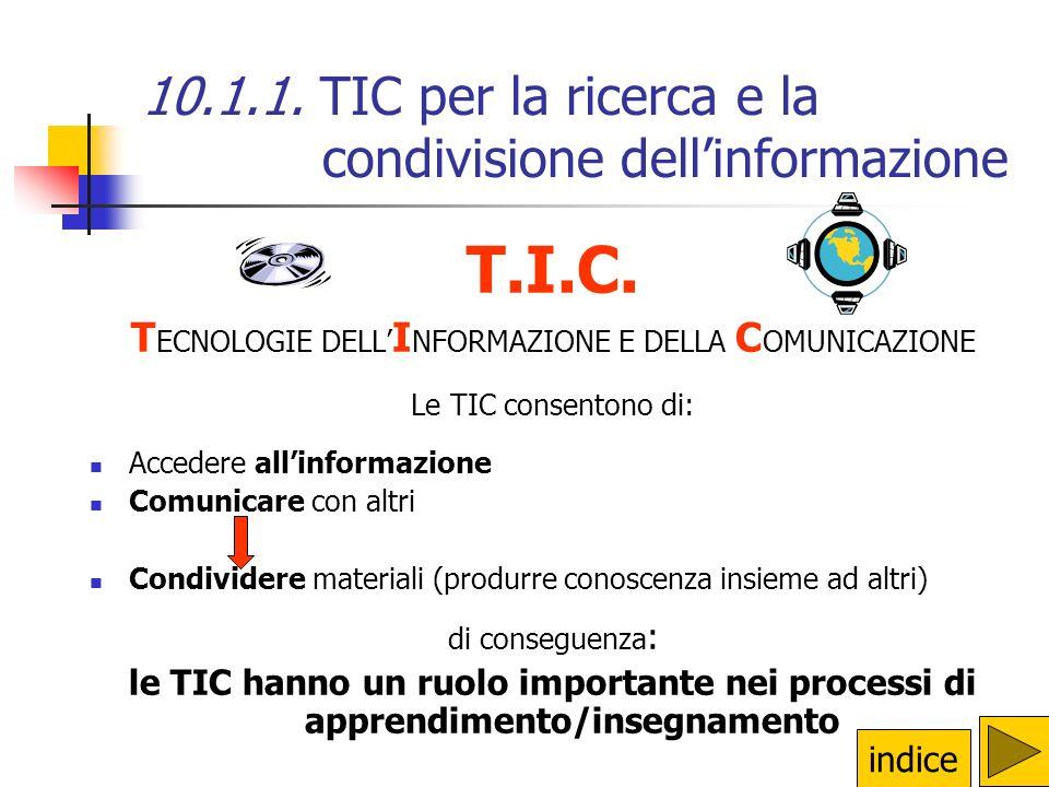 Modulo 10 – Processi di apprendimento/insegnamento e TD 10.4.