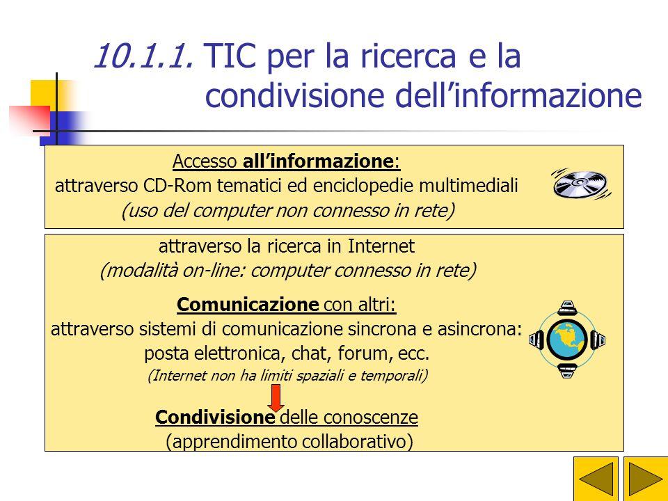 T.I.C. T ECNOLOGIE DELL I NFORMAZIONE E DELLA C OMUNICAZIONE Le TIC consentono di: Accedere allinformazione Comunicare con altri Condividere materiali
