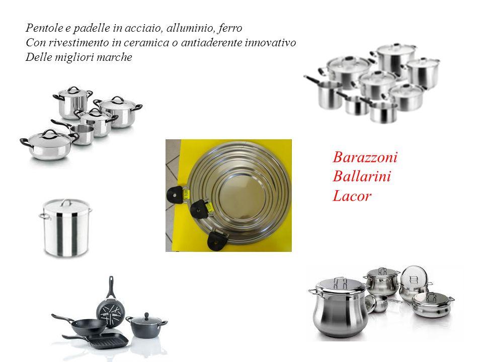 Pentole e padelle in acciaio, alluminio, ferro Con rivestimento in ceramica o antiaderente innovativo Delle migliori marche Barazzoni Ballarini Lacor