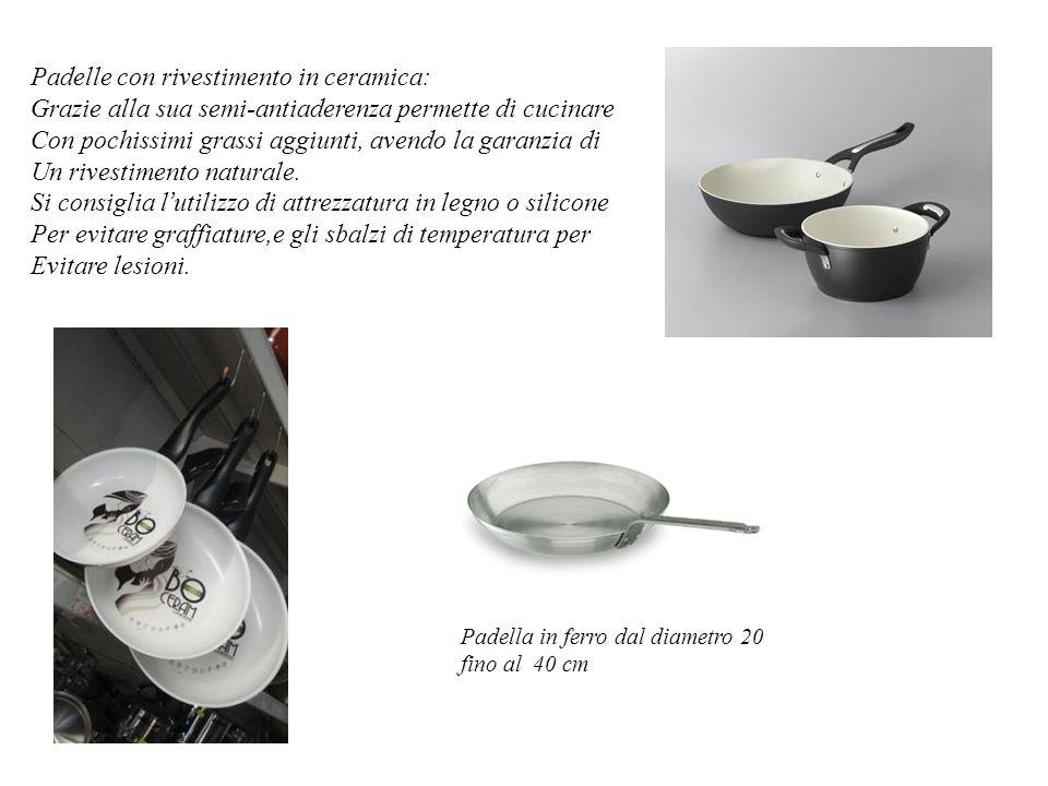 Padelle con rivestimento in ceramica: Grazie alla sua semi-antiaderenza permette di cucinare Con pochissimi grassi aggiunti, avendo la garanzia di Un rivestimento naturale.